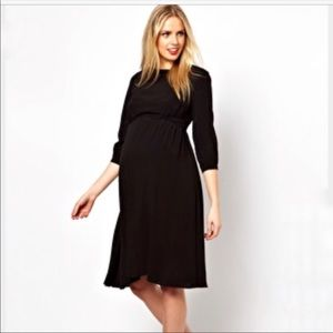 ASOS Maternity Adjustable Tab Waist Midi Dress